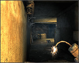 Take cover behind one of the larger objects as soon as you've entered a new corridor #1, because enemy troops will show up in the area - Walkthrough - Lost Tunnel - Chapter 2 - Metro 2033 - Game Guide and Walkthrough