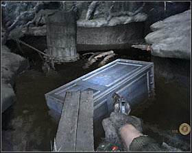 Use wooden beams found in the area to get through this location safely and keep heading towards a new body seen in the distance #1 - Walkthrough - Dead City 2 - Chapter 2 - Metro 2033 - Game Guide and Walkthrough