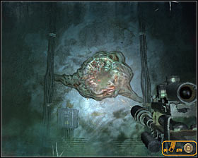 You must now fight your way through a long corridor where you'll be dealing with amoeba - Walkthrough - Biomass - Chapter 6 - Metro 2033 - Game Guide and Walkthrough