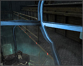 Wait for the icon to change its color from blue to green and then hold a mouse button to lower the crane's arm - Walkthrough - Biomass - Chapter 6 - Metro 2033 - Game Guide and Walkthrough