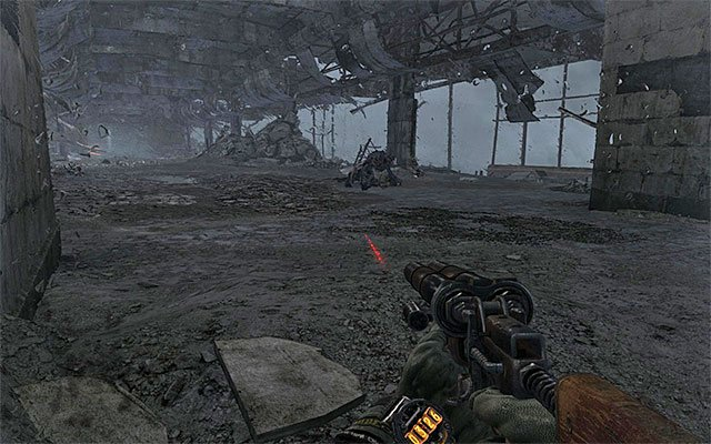 how to go down laders in metro last light