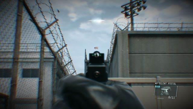 Cuidado com os guardas na torre - eliminar a ameaça Renegade - Ops laterais e Ops extra - Metal Gear Solid V: Zeros terra - Guia do Jogo e Passo a passo
