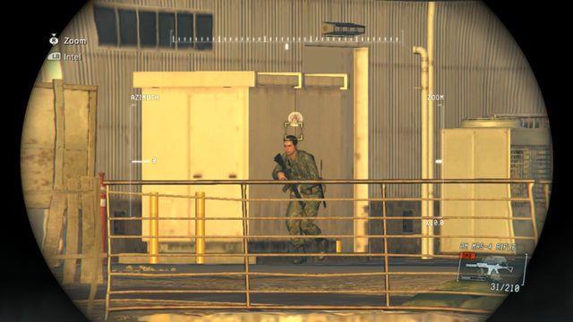 Use os binóculos para localizar seu alvo - Classificados Intel Aquisição - Ops laterais e Ops extra - Metal Gear Solid V: Zeros terra - Guia do Jogo e Passo a passo