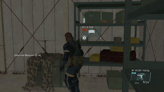 Minas no armazém - Destrua os Emplacements Anti-Air - Ops laterais e Ops Extra - Metal Gear Solid: V Zeroes terra - Guia do Jogo e Passo a passo