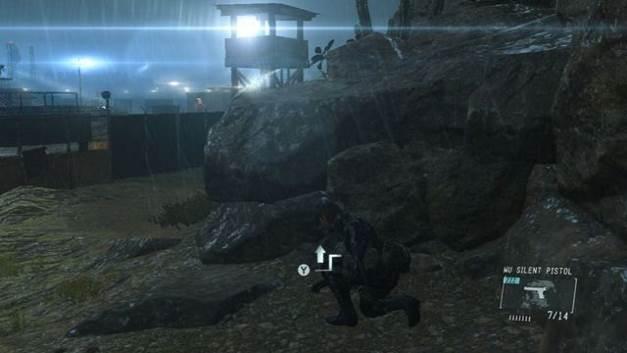 Uma rocha ao lado da torre - Extraindo Chico - Passo a passo - Metal Gear Solid V: Zeros terra - Guia do Jogo e Passo a passo