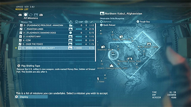 Repeating completed missions | Completing missions - Metal