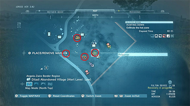 Remaining Hunting Down - secondary mission objectives