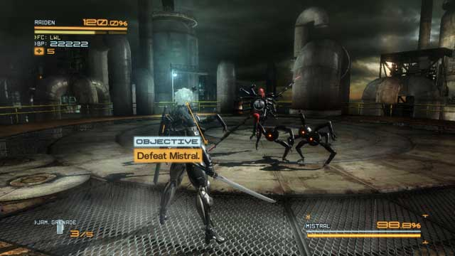 Mistral and a group of her goons. - Mistral - Bosses - Metal Gear Rising: Revengeance - Game Guide and Walkthrough