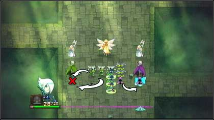 Place the two other green Zombies behind the green Vampire and eliminate the blue monster to create a formation - Heresh - Battle puzzles - Might & Magic: Clash of Heroes - Game Guide and Walkthrough