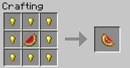 Food crafting recipes minecraft game guide gamepressure it is more nutritious than the regular melon can be used to breed horses or forumfinder Gallery