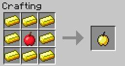 Food crafting recipes minecraft game guide gamepressure the golden apple can be eaten at full health it introduces the state of regeneration forumfinder Gallery