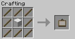 Decorative Elements Crafting Recipes Minecraft Game