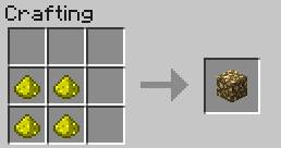 how to make a glowstone dust in minecraft