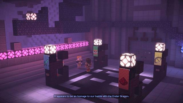 After a short conversation, take a look around - Chapter 5 - Walkthrough -  Minecraft