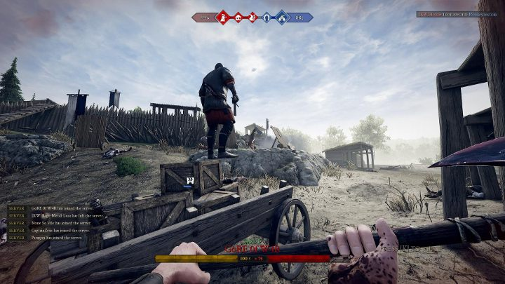 In Frontline mode your team has to capture points and perform simple tasks. - Game modes in Mordhau - Starting Tips - Mordhau Guide and Tips