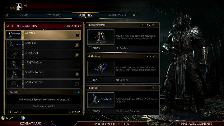 Choosing the right abilities is a crucial point when creating an AI bot - How to create an AI bot in Mortal Kombat 11? - Basics - Mortal Kombat 11 Guide and Tips