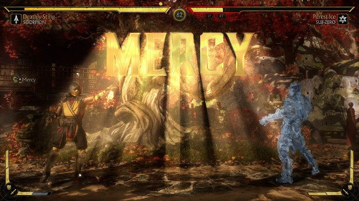 In Mortal Kombat 11, you can show your opponent mercy when the FINISH HIM sign shows on the screen - How to show mercy to an opponent in Mortal Kombat 11? - Combat guide - Mortal Kombat 11 Guide and Tips