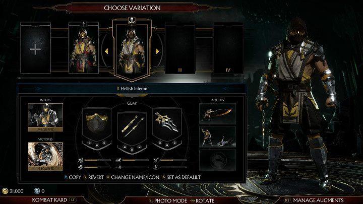 Character customization in Mortal Kombat 11 - Mortal Kombat