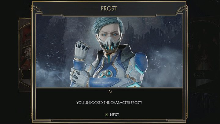 After the end of the story mode in Mortal Kombat 11, you may unlock one additional character - Frost - Story mode of Mortal Kombat 11 - Game modes - Mortal Kombat 11 Guide and Tips