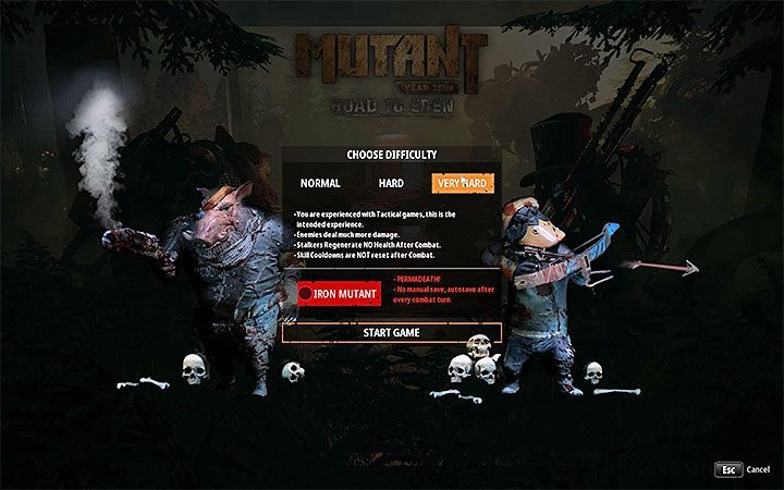In Mutant Year Zero: Road to Eden there are three main difficulty levels: Normal, Hard and Very Hard - Mutant Year Zero Road to Eden Guide