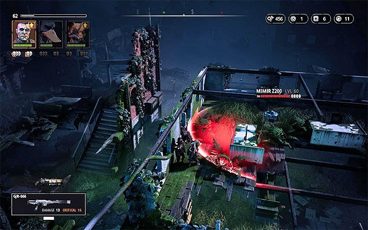 Soon after you start exploring the map, you should find the first note and run into the Mimir Z200 robot - Grave of the Ancients | Mutant Year Zero Road to Eden World Atlas - World Atlas - Mutant Year Zero Road to Eden Guide