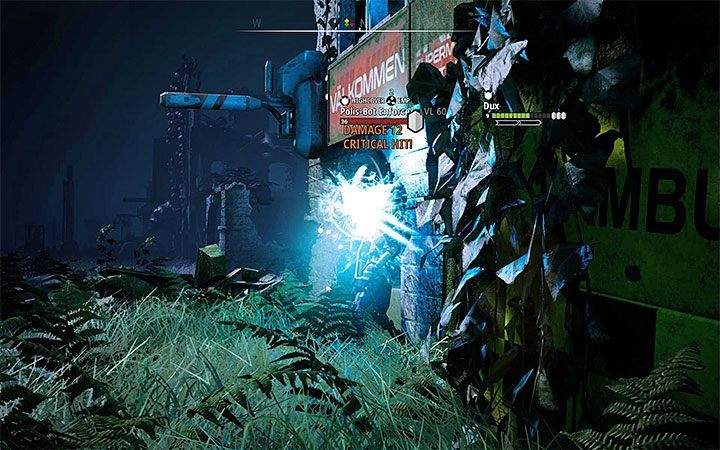 The Polis-Bots also take part in the fight, but they are on the opposite end of the map - Grave of the Ancients | Mutant Year Zero Road to Eden World Atlas - World Atlas - Mutant Year Zero Road to Eden Guide