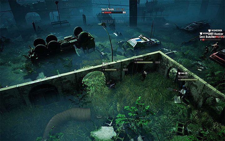 In this location it is best to play the two main battles separately - The Sealed Gate | Mutant Year Zero Road to Eden World Atlas - World Atlas - Mutant Year Zero Road to Eden Guide