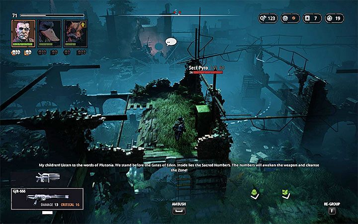 You can start the second battle in the further part of the map - The Sealed Gate | Mutant Year Zero Road to Eden World Atlas - World Atlas - Mutant Year Zero Road to Eden Guide