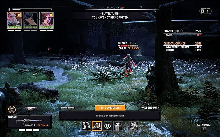Playing the first turn correctly is very important, especially if you managed to carry out a surprise attack - Fighting in Mutant Year Zero Road to Eden - Basics - Mutant Year Zero Road to Eden Guide