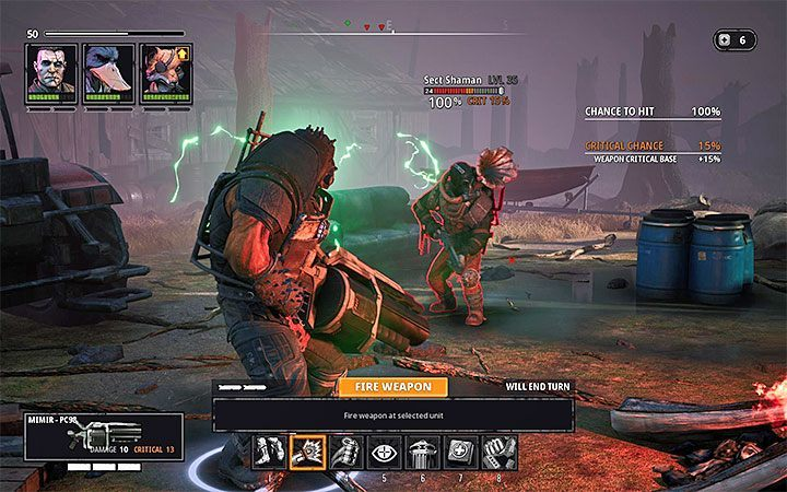 Apart from attacking the team, the Shamans can call for reinforcements on the battlefield - Dealing with difficult opponents in Mutant Year Zero Road to Eden - Basics - Mutant Year Zero Road to Eden Guide