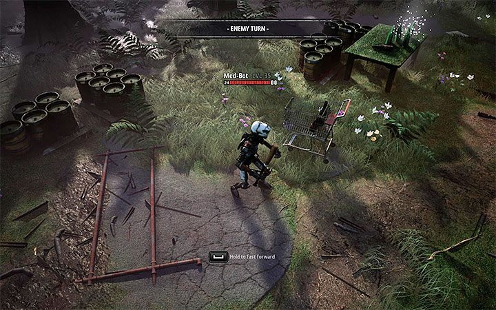 Medical robots can resurrect fallen opponents - Dealing with difficult opponents in Mutant Year Zero Road to Eden - Basics - Mutant Year Zero Road to Eden Guide