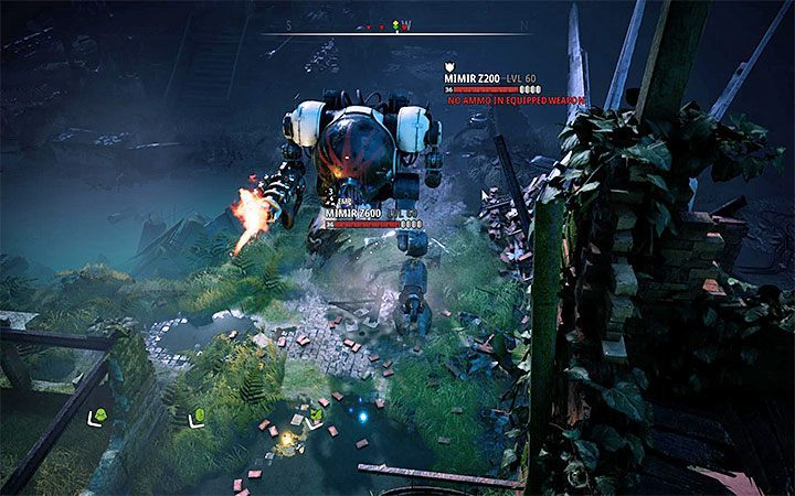 Mimir Z600 is a powerful mech that can attack the team and break through buildings - Dealing with difficult opponents in Mutant Year Zero Road to Eden - Basics - Mutant Year Zero Road to Eden Guide