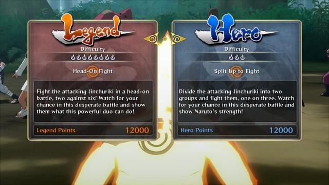 Legend or Hero   Controls - Naruto Shippuden: Ultimate Ninja