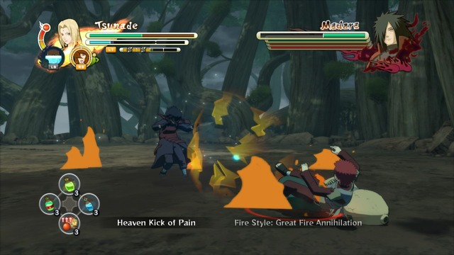 While fighting Madara use your supports as often as you can - Bet the Future - Boss fights - Naruto Shippuden: Ultimate Ninja Storm 3 - Game Guide and Walkthrough