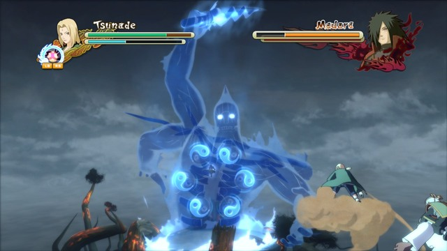 Susano has six seals on his chest, which you first have to destroy one by one - Bet the Future - Boss fights - Naruto Shippuden: Ultimate Ninja Storm 3 - Game Guide and Walkthrough