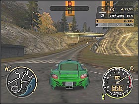 Earl was driving a Mitsubishi Lancer - Black List #9 - Earl - Career - Need for Speed: Most Wanted - Game Guide and Walkthrough