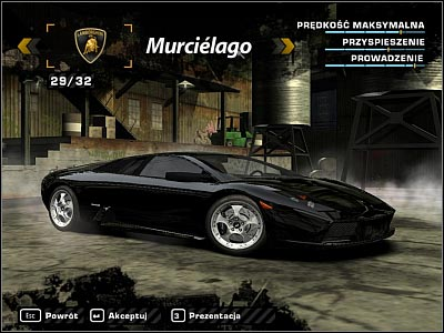automobile collection need for speed most wanted lamborghini 2. Black Bedroom Furniture Sets. Home Design Ideas