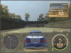 Once you've reached your destination head on to the path located on the right side of the screen (#1) - The End - Career - Need for Speed: Most Wanted - Game Guide and Walkthrough