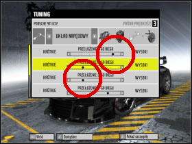 #1 - Changing car settings (tuning) - Basic Information: - Need For Speed: ProStreet - Game Guide and Walkthrough