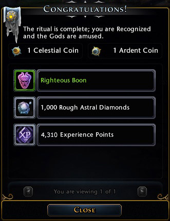 Rewards for each subsequent invocation will be worse and worse, only buff is guaranteed (the higher level your character have the stronger versions of those buffs you will get) - Invocation - Game basics and exploration - Neverwinter - Game Guide and Walkthrough