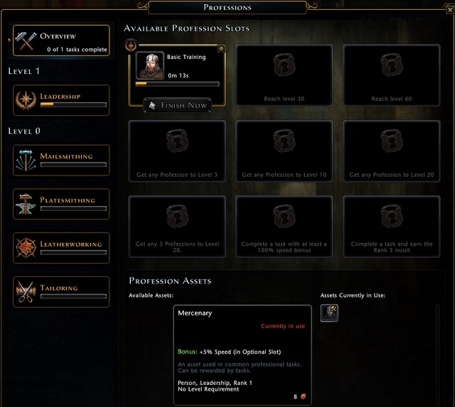 Professions are the crafting skills in Neverwinter - Crafting - Professions (Crafting) - Neverwinter - Game Guide and Walkthrough