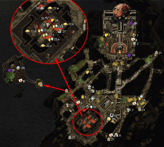 Icons - Protectors Enclave (1-60) - Maps - Neverwinter - Game Guide and Walkthrough