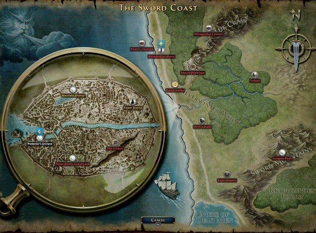 map and map icons game basics and exploration neverwinter game