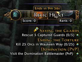 You will see time until the end, your score and your rank - Events - Game basics and exploration - Neverwinter - Game Guide and Walkthrough