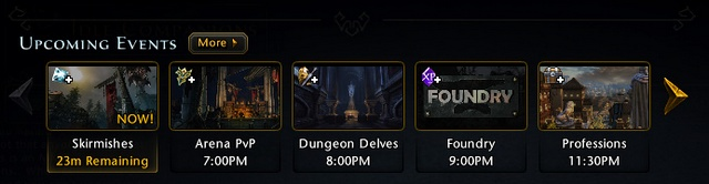 Another type of events are calendar events visible when you open the calendar tab in Landing Page - Events - Game basics and exploration - Neverwinter - Game Guide and Walkthrough