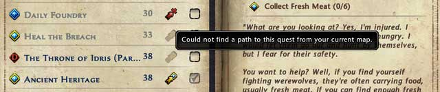 In last column is checkbox where you can set display of quest in main interface on the right: Default, Always show or Do not show - Quest log and quest path - Quests - Neverwinter - Game Guide and Walkthrough
