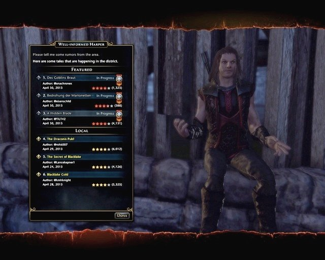While viewing foundry quests note yellow and red star ratings, those are both player ratings, but quests with red stars are featured in this week - The Foundry quests and local contacts - Quests - Neverwinter - Game Guide and Walkthrough