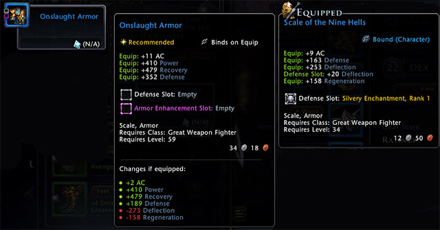 You can check details of any item by hovering it, in the tooltip you will see more information - Inventory and bank - Equipment - Neverwinter - Game Guide and Walkthrough
