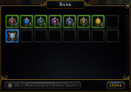 1 - Inventory and bank - Equipment - Neverwinter - Game Guide and Walkthrough