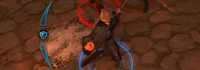 After blocking set amount of attacks Guard Meter will be empty and you wont be able to block until you will refill Meter with skills or attack boosted by talents - Guardian Fighter - Classes - Neverwinter - Game Guide and Walkthrough